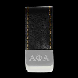 APA Leather Money Clip W/Laser Engraved Logo