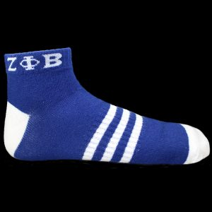 ZPB Ankle Socks – Blue With White
