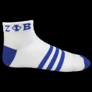 ZPB Ankle Socks – White With Blue