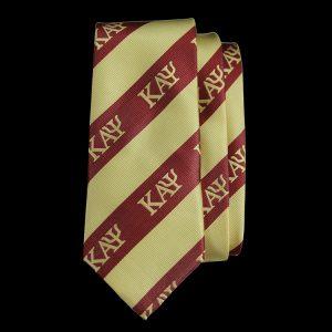 KAP Imitation Silk Neck Tie – Crimson/Cream