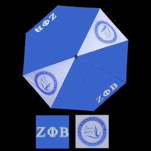 ZPB Umbrella, Vented Two Carbon Fiber Ribs, Nine-Edition Shaft, Pongee Fabric