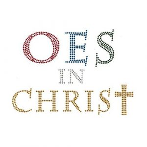"OES Sisters In Christ Studstone Heat Transfer- 4 3/4″ X 7 """