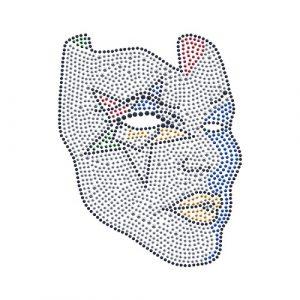 OES Mask Studstone Transfer- 6″T X 4 1/4″W