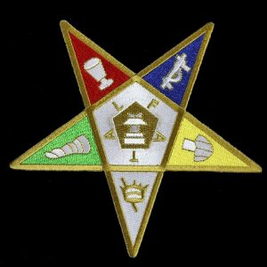 OES Emblem Pentagram Up W/Heat Seal Backing- 1 1/8″
