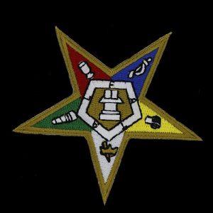 OES Emblem Pentagram Down W/Heat Seal Backing- 1 1/8″