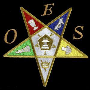 OES Emblem Pentagram Up W/Heat Seal Backing- 2 7/8″