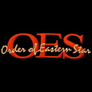 OES Signature Red/Gold Emblem W/Heat Seal Backing- 1 3/8″