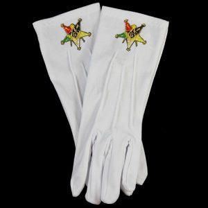 White Gloves W/Past Patron Emblems