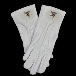White Gloves W/Past Matron Emblems