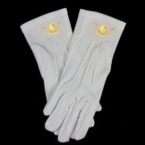 White Gloves W/DOI Emblems