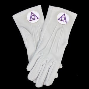 White Gloves W/Circle Of Perfection Emblems
