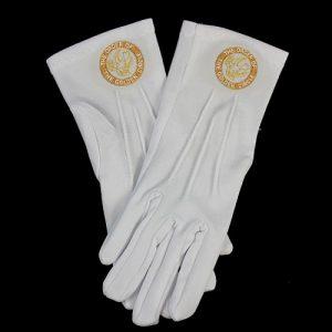 White Gloves W/Golden Circle