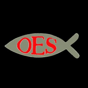 OES 1″W Fish Lapel Pin