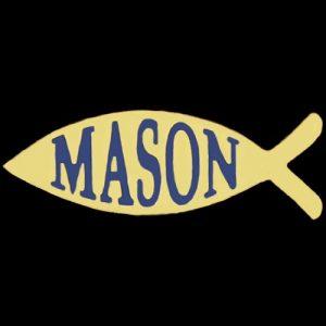 Mason 1″W Fish Lapel Pin
