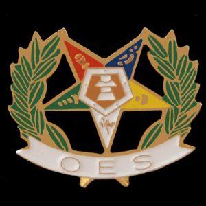 OES Wreath Lapel Pin- 3/4″
