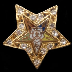 OES Gold W/ Stones Pin- 1″
