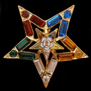 OES 1 1/2″ Color Jeweled Pin
