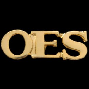 OES Gold Letters Pin- 3/4″