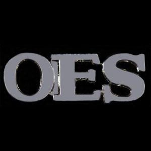 OES Letters Pin In Silver