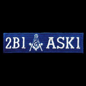 Mason 2B1ASK1 Emblem W/Heat Seal Backing