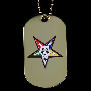 OES Gold Double-Sided Dogtag W/Chain