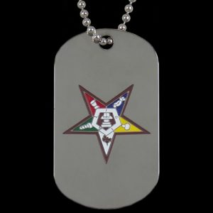 OES Silver Double-Sided Dogtag W/Chain
