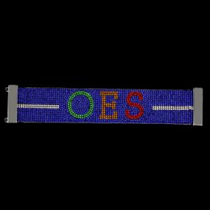 OES Austrian Crystal Bracelet With Magnet Closure – Blue W/ Multi Color Stones