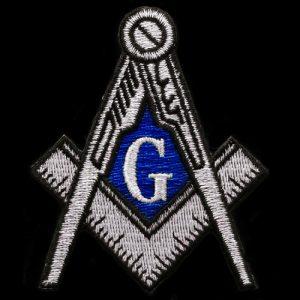 Mason Compass & Square Emblem In Silver – 2 7/8″