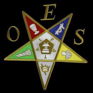 OES Emblem Pentagram Up W/Heat Seal Backing – 5″