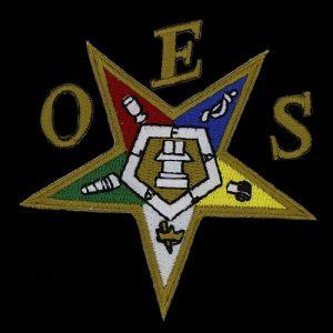 OES Emblem Pentagram Down W/Heat Seal Backing – 5″