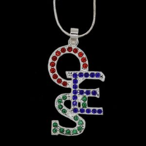 OES Crystal Overlap Letters Necklace