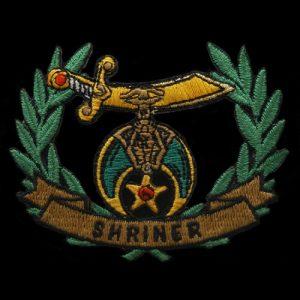 Shriner Wreath Emblem W/Heat Seal Backing- 2 1/4″