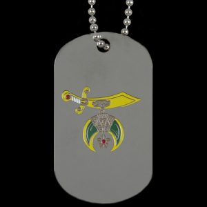 Shriner Silver Double-Sided Dogtag W/Chain