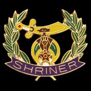 Shriner Wreath Lapel Pin-3/4 X 7/8″