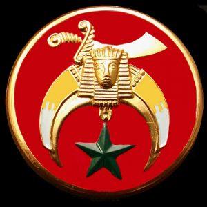 Shriner Auto Emblem Red- 2 3/4″