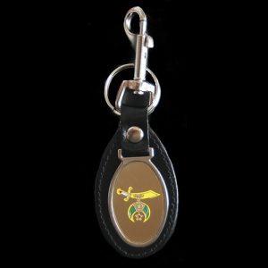 Shriner Leather Fob Key Chain