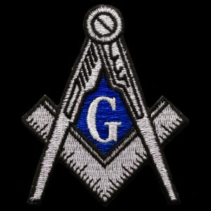 Mason Compass & Square Emblem In Silver- 5″