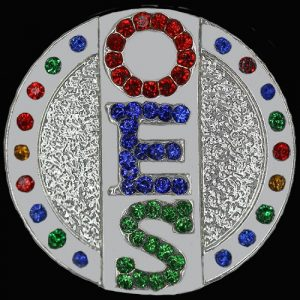 OES Single Snap Button With Crystals – 3 Letters