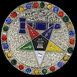 Past Matron Single Snap Button With Crystals