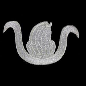 DOI 1 1/2″ Emblem W/Heat Seal Backing All White