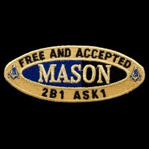 Mason Oval Founders Emblem W/Heat Seal Backing