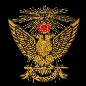 Mason 33rd Degree Wings Up Emblem W/Heat Seal Backing – 2 3/4″