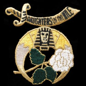 """Daughters Of The Nile 1 1/2"""" Emblem W/Heat Seal Backing"""