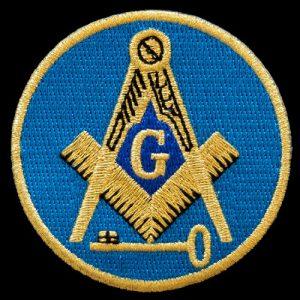 International Mason Emblem W/Heat Seal Backing – 1 1/2″