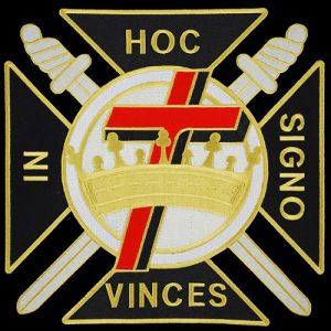 Knights Templar 1 1/2″ Emblem W/Heat Seal Backing