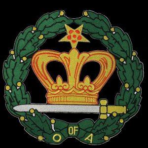 Amaranth 10 1/2″ Emblem W/Heat Seal Backing