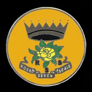 Rose Of The Seven Seals Lapel Pin