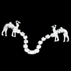 Fez Tassel Holder – Camel Single Row In Silver