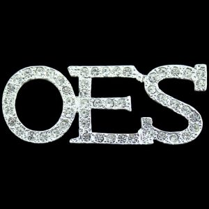 OES Austrian Crystal Pin In Silver