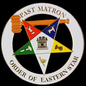 OES Past Matron Cut Out Car Tag